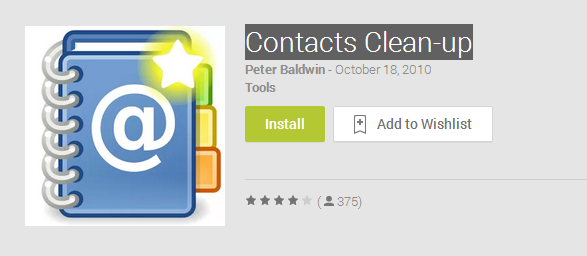 Contacts Clean up   Android Apps on Google Play