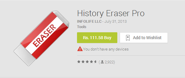 History Eraser Pro Android Apps on Google Play