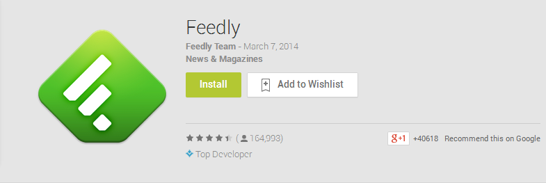 Feedly-Best Android Apps 2013