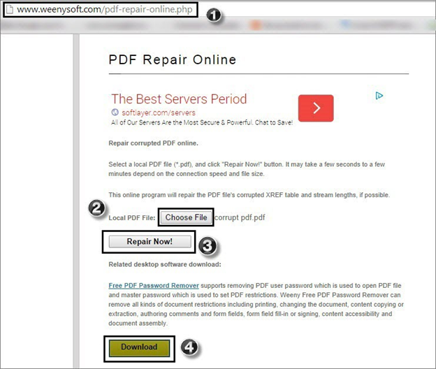 Pdf file damaged cannot be repaired