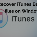 Recover iTunes Backup files on Windows